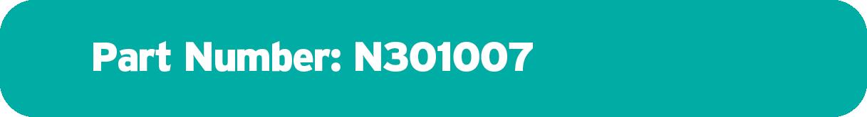 Part Number N301007