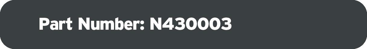 Part Number: N430003